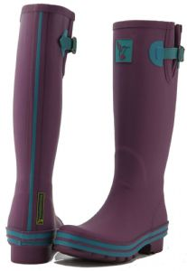 Evercreatures Womens Tall Wellington Boots - Eggplant